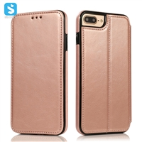 Magnetic PU leather case for iPhone 7 8 Plus