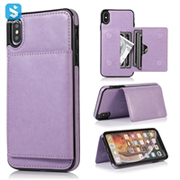 PU leather back cover with card slot for iphone XS Max