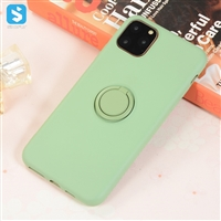TPU liquid silicone case with finger ring for iPhone 11 Pro max (2019) 6.5