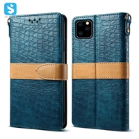 crocodile grain wallet leather case for iPhone 11 Pro Max(2019) 6.5