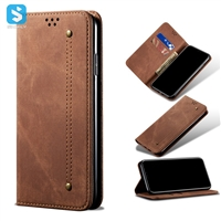 retro cowboy grain leisure style leather case for iPhone 11 Pro max (2019) 6.5