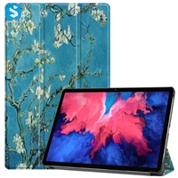 Printed 3 fold leather case for Lenovo Tab P11 j606F