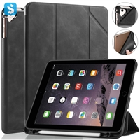 Crazy Horse Pen slot Leather case for APPLE  iPad 9.7 2017/2018