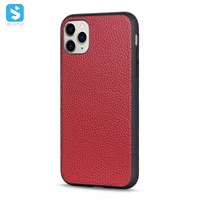 Genuine Litchi grain leather case for APPLE  iPhone 12 /12 Pro (2020) 6.1