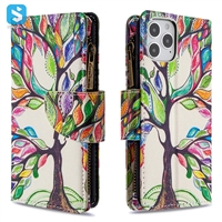 Zipper painted leather case for APPLE  iPhone 12 /12 Pro (2020) 6.1