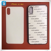 TPU 2D glass sublimation phone case for APPLE iPhone XS MAX