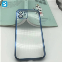 Lens protection electroplated TPU phone case for Iphone 12 pro max