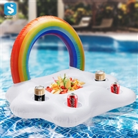 Colorful rainbow cloud water red wine beverage