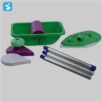 Brush roller corner brush set tool