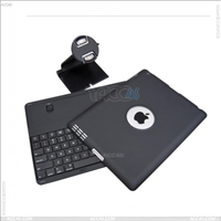 Detachable Bluetooth Keyboard Protector Case Cover for iPad 2/ 3