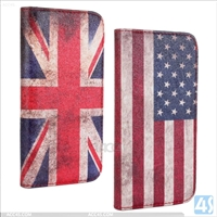 Flag Leather Wallet Case for HTC One 2/M8