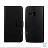 Genuine Leather Wallet Case for HTC M8 Mini
