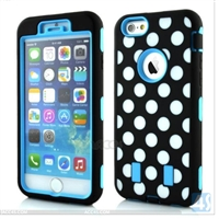 3 in 1 PC Silicon Case for iPhone 6