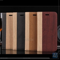 Wood Grain Leather Case for iPhone 6