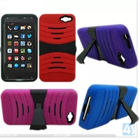 PC Silicon Stand Case for Amazon Fire Phone