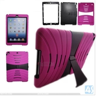 PC Silicon Stand Case for iPad Air