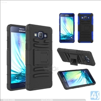 PC Silicone Stand Hard Case for Samsung Galaxy A5(SM-A500)