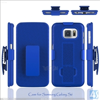 PC Silicone Stand Hard Case for Samsung Galaxy S6(SM-G925F)