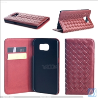 Customized Leather Wallet Case for Samsung Galaxy S6(SM-G925F)