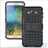 3 in 1 PC Silicone Stand Case for Samsung Galaxy E7(SM-E700F)