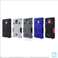 3 in 1 PC Silicone Hard Case for Samsung Galaxy Note 4