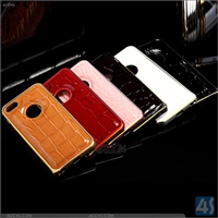 PU Leather + Metal Bumper Case for iPhone 5/5S