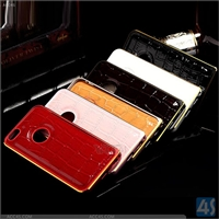 PU Leather + Metal Bumper Case for iPhone 6