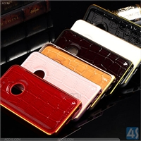 PU Leather + Metal Bumper Case for iPhone 6 Plus