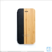 Wood + PU Leather Phone Case for iPhone 6