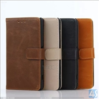 PU Leather Wallet Case for Sony A4