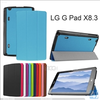 Three Folding Leather Case for LG G Pad X 8.3