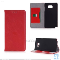Litchi Real Leather Wallet Case Cover for SAMSUNG Galaxy NOTE 5 /N920