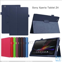 Litchi PU Leather Stand Case Cover for SONY Xperia Z4 Tablet