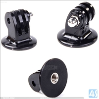 Black Tripod Mount Adapter for Gopro Hero 3+/3/2/1