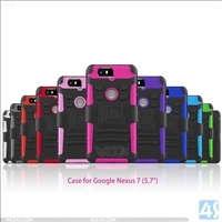 3in1 TPU PC Belt Clip Case Cover for GOOGLE Nexus 6P / (6