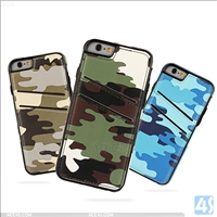 Camouflage PU Leather PC Back Cover Case for APPLE iPhone 6S