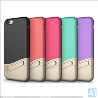 Stand Contrast Color TPU PC Case Cover for Apple iPhone 6S