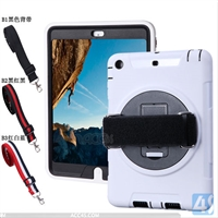 360 Rotation Anti Shock Kick Stand Case for iPad Air with Hand and Shoulder Strp