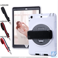 360 Rotation Anti Shock Kick Stand Case for iPad Mini 3 with Hand and Shoulder Strap
