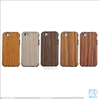 Wood TPU Anti Shock Case for Apple iPhone SE/ 5/ 5S