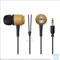 Wood Stereo Headphones Earphones