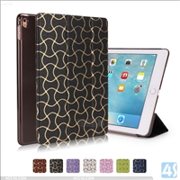 PU Leather Wave Pattern Tri Fold Case for APPLE iPad Pro 9.7