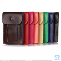 Outdoor Sports Bag PU Leather Case for Cell Phones