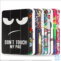 Colorful printed leather flip case for LG  G Pad X 8.0