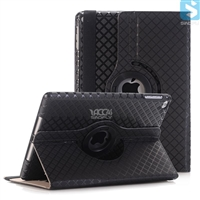 Grid PU Leather 360 Rotation Case for APPLE iPad Air
