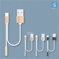 8pin Lightning to 3.5mm Aux & USB