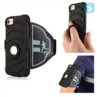 3in1 Armor Holster Belt Clip with Armband & Ring Stand Case for iPhone 7