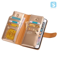 PU Leather Wallet Case for Apple iPhone 7 Plus with card slot