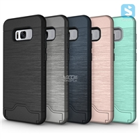 Card Slot PC TPU Combo Case for SAMSUNG Galaxy S8 Plus