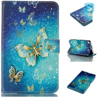 Printed PU Leather Wallet Case for AMAZON New Fire 7 (2015)
